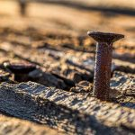 Picture of a rusty nail